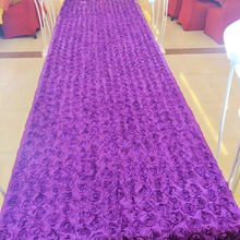 10 meter 3D Rose Wedding Aisle Carpet Runner For Church Long Cheap Marriage Ceremony Floral Bridal Indoor Outdoor