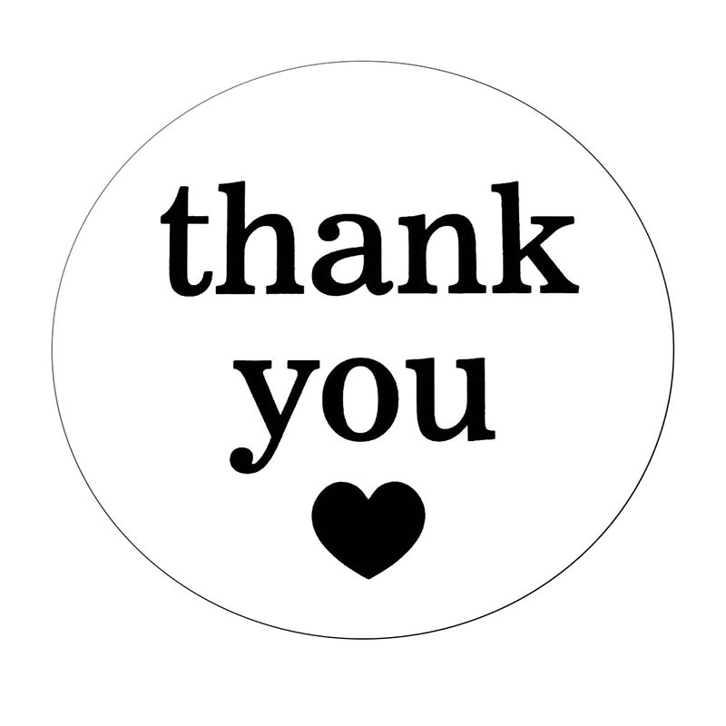 Round Thank You Stickers 2 Inch Unique Designs 500 Adhesive Thank You Labels Per Roll Perfect For Baby Shower Wedding Roll Roll Black Paper Rolladhesive Paper Roll Aliexpress