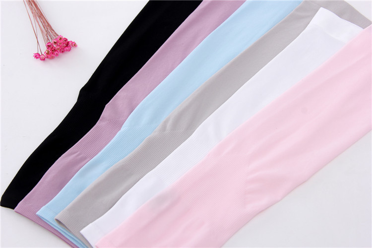 running - Ice Fabric Breathable UV Protection Running Arm Sleeves Fitness Basketball Sleeve Sport Cycling Outdoor Arm Warmers Cycling Cuff