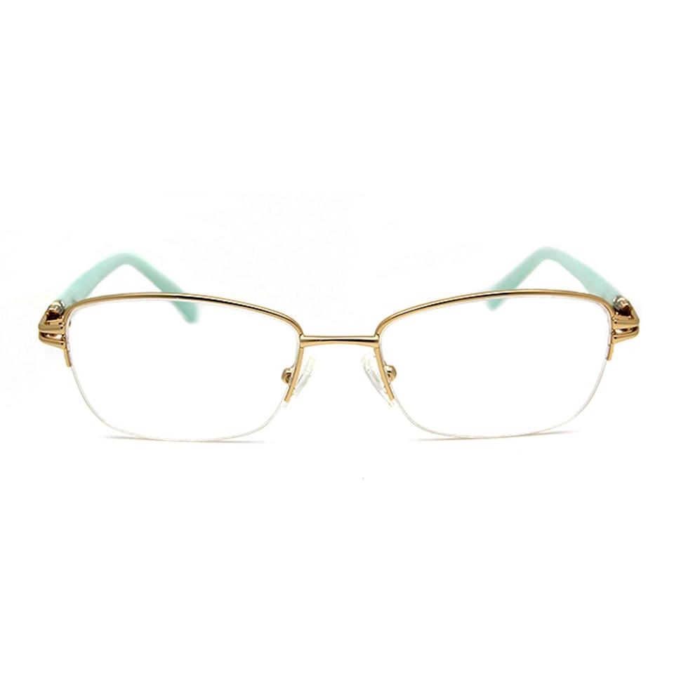 Märkesdesigner Kvinnor Glasögonramar Diamond Half Frame Women's - Kläder tillbehör - Foto 2
