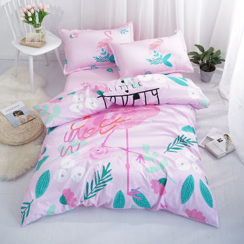Light Pink Flamingo Panther 100% Cotton Twin Single Summer Bedlinen Duvet Cover Sets for Girls Boys Bedroom Decor Jogo de CamaLight Pink Flamingo Panther 100% Cotton Twin Single Summer Bedlinen Duvet Cover Sets for Girls Boys Bedroom Decor Jogo de Cama