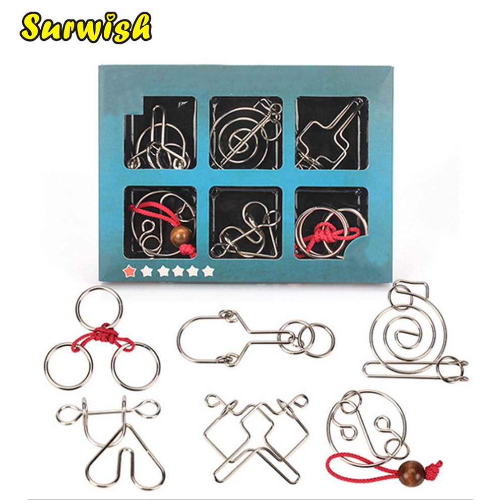 The Price Of Brain Teaser Metal Wire Puzzles Magic Trick Toy ...