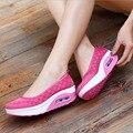 Alpercatas Cunhas da Plataforma das mulheres Sapatos Casuais Sapatos de Fitness Sapatos De Cunha Verão Sapatos Respirável p6d01