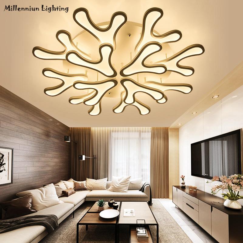 LED Wohnzimmer Leuchte Moderne Deckenleuchte Fr Schlafzimmer Arbeitszimmer Restaurant Oberflche Montiert Dimmer Innendecke Lampe