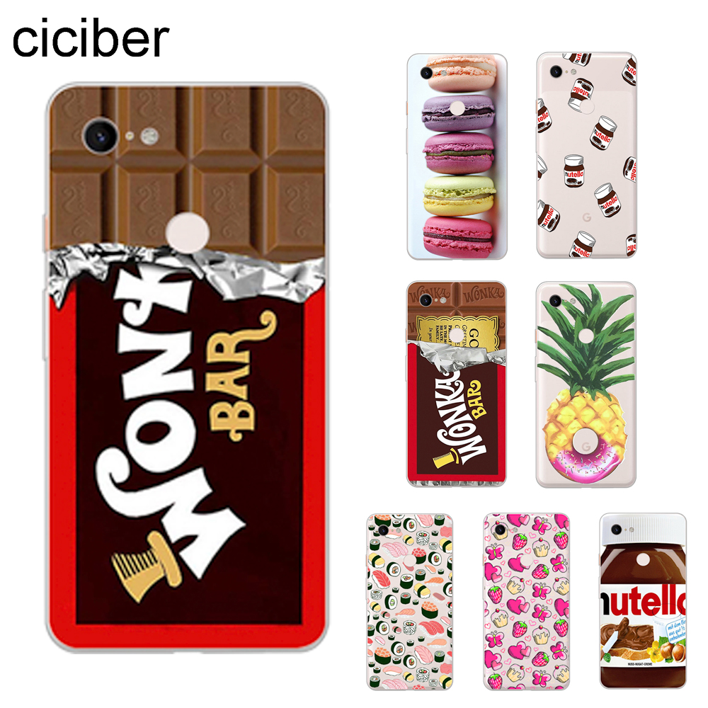 Fundas de teléfono ciciber Food Chocolate para Google Pixel 3 2 3a 4 XL Funda trasera suave TPU para Pixel 3XL 2XL 3aXL 4XL Funda carcasa