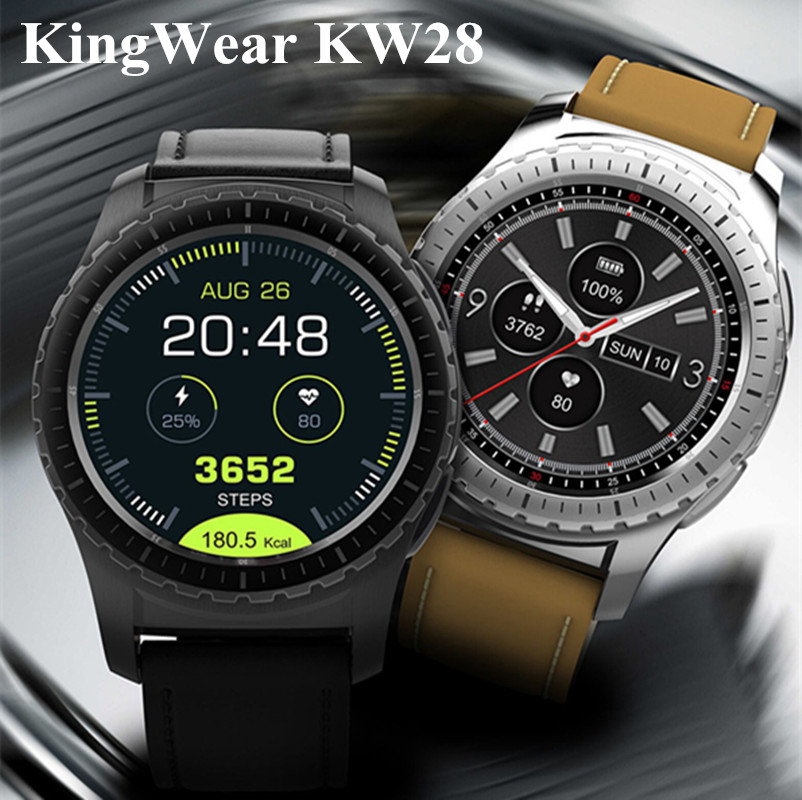 KingWear KW28 Smartwatch Phone 1.3 inch Bluetooth 240x240 Smart Watch Sedentary Reminder Heart Rate Monitor Anti-lost