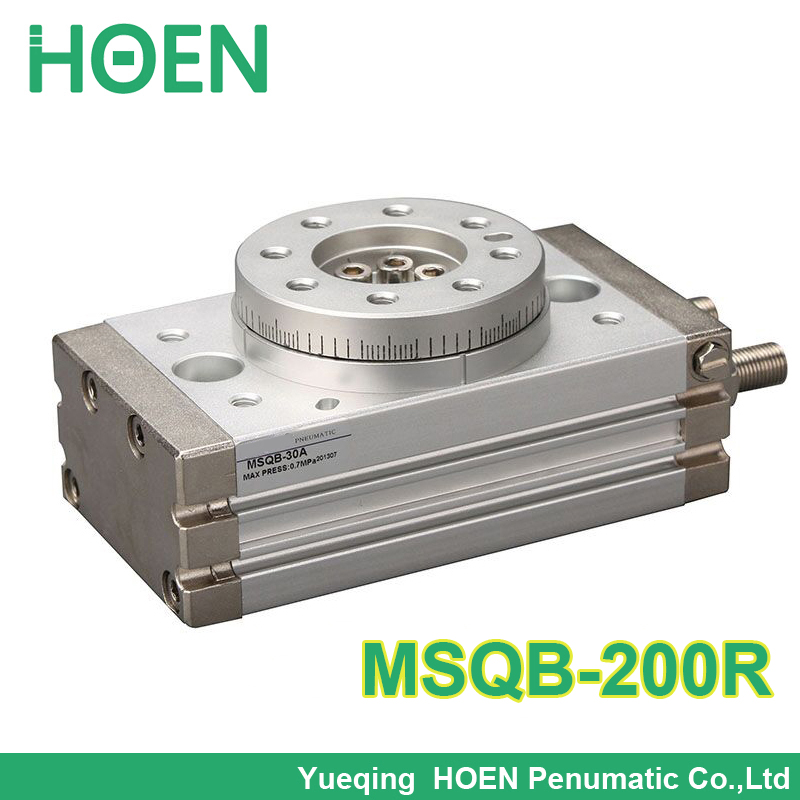 MSQ series Double Action Rotary Cylinder / Rack & Pinion Type Pneumatic Air Cylinders MSQB-200R MSQB-200A msqb 70 high quality double acting air rotary actuator pneumatic cylinder table msqb 70a msqb 70r