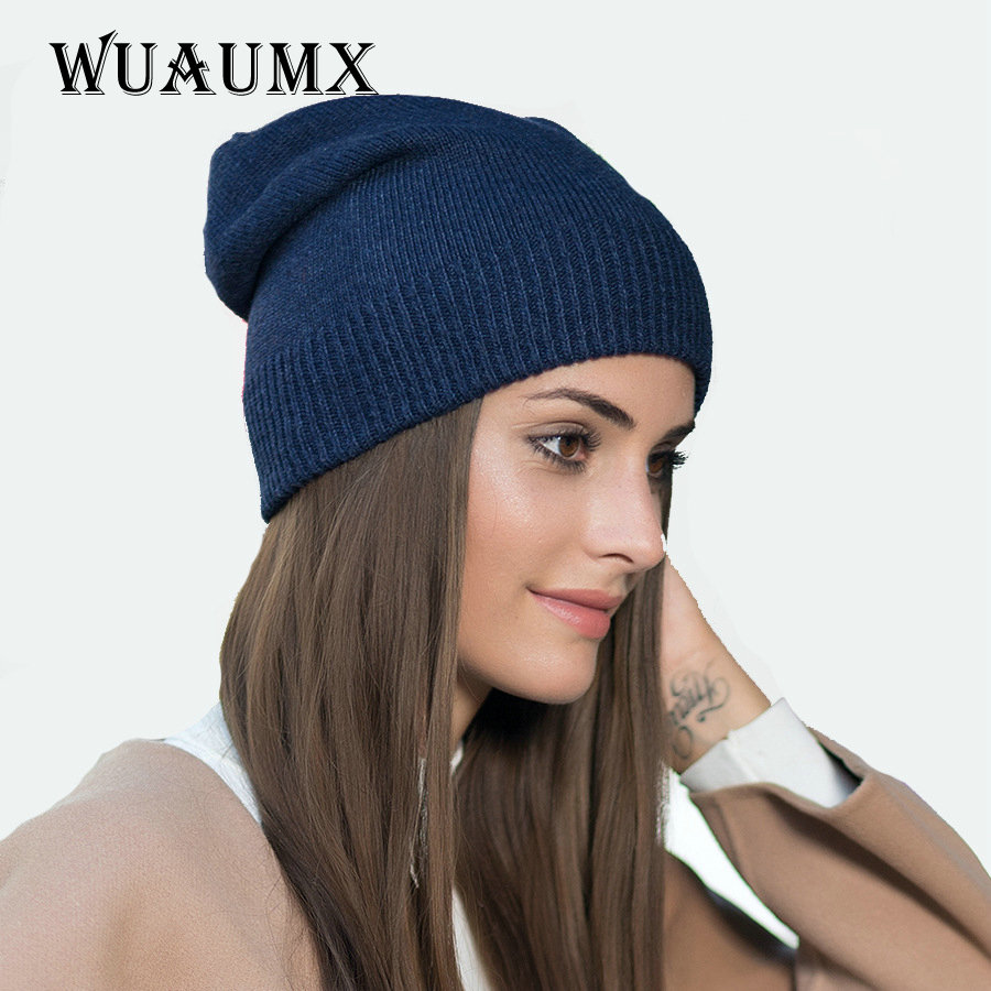 Wuaumx Branded Autumn Winter Hat For Women And Men Beanies Skullies Warm Wool Knitted Cap Ladies Braided Hat Touca Bonnet Casual femme skullies autumn beanies winter warm chapeau women hat female knitted cap ladies bonnet