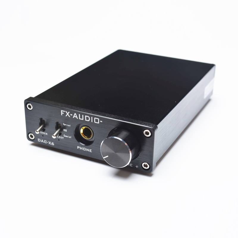 FX-Audio DAC X6 Professiona Headphone Amplifier USB Coaxial Optical DAC HiFi Audio Decoder Digital Amplifier 16Bit/192KHz dac 01bii digital decoder amplifier headphone amp usb spdif dac hifi coaxial optical 24bit 96khz silver black