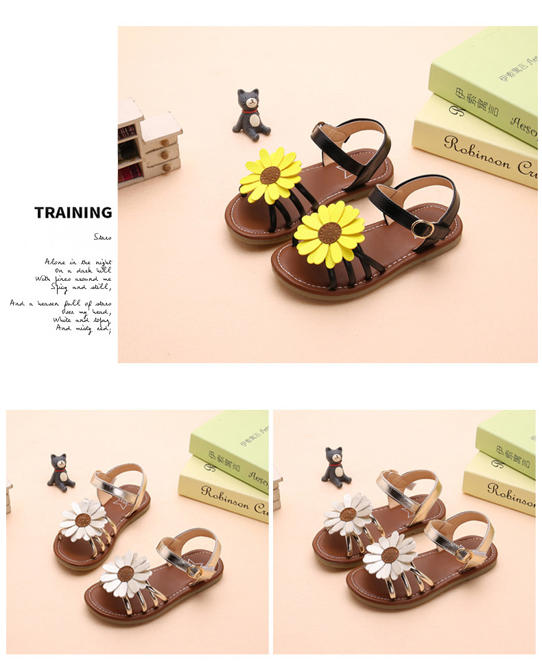 bebê sandálias de couro pu sol flores