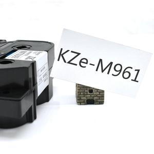 Image 2 - Cidy 5pcs compatible P touch TZe label tape 36mm tz M961 tze M961 Black on Mattesilver for brother printer