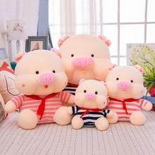 купить Cute Red Scarf Pig Soft Plush Toy Stuffed Animal Plush Doll Creative Gift For Children Kids дешево