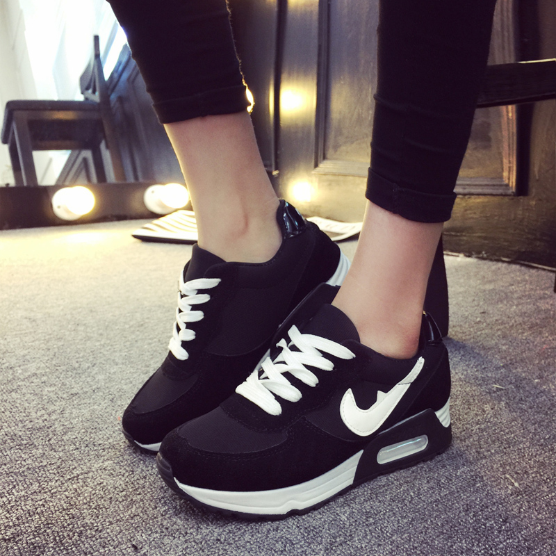 5ec8fddafc4 basket femme 2016 Autumn Fashion New For Womens Casual shoes Mujer Zapatos  Jogging Flat Shoes chaussure femme ladies shoes sb-in Men s Casual Shoes  from ...