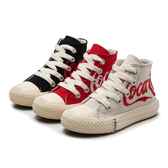 Children Shoes Girls Kids Sneakers Fashion 2019 Spring Boys Canvas Shoes  High Top Girls Sneakers Ankle Boots Casual Shoes 405643412cfa