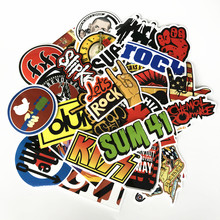 TD ZW 52pcs/lot Classic Famous Rock Band Music Stickers Green days Nirvana DIY Waterproof Decals For Guitar Suitcase Skateboard(China)