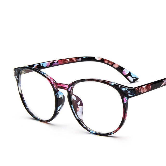 781fc4c6a41c Classic Round Computer Google Coating Computer Glasses Frame Optical Clear  Lens Decorative Reading glasses No Degree