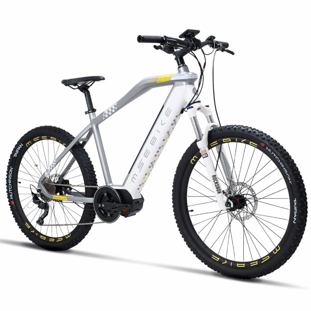 NEW 27.5inch Electric Mountian Bike 11speed  36V250w MID-motor Pas Bicycle Hydraulic Disc Brake ROCKSHOX  Electric Ebike