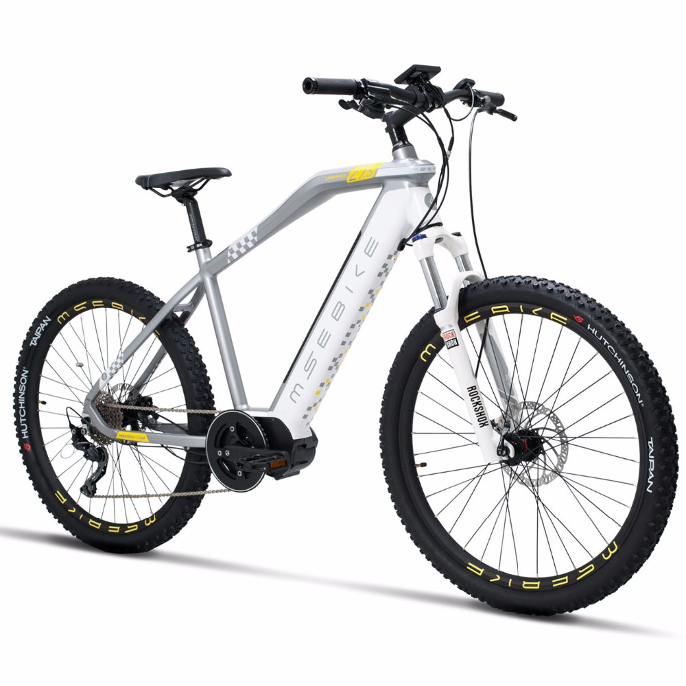 NEW 27.5inch electric mountian <font><b>bike</b></font> 11speed 36V250w MID-motor pas bicycle Hydraulic Disc Brake ROCKSHOX electric ebike image