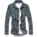 Plaid Shirt Men 2016 New Autumn Long Sleeve Men Shirt Men Clothes Plus Size Casual Men Beach Shirt Blouse 7XL-M Free Shipping