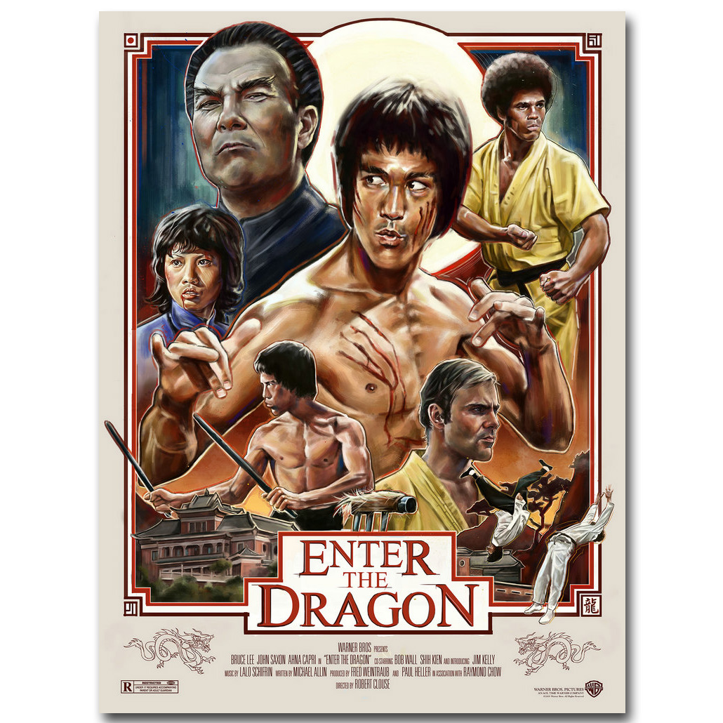 Bruce Lee ENTER THE DRAGON Art Silk Poster Print 13×20 24×36 inch Super Kung Fu Star Movie Picture for Wall Decor 003
