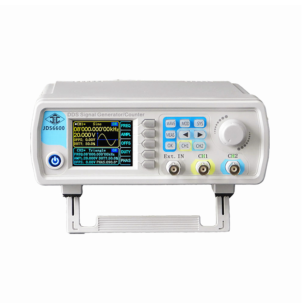 15MHZ Signal Generator Dual Channel CNC DDS Digital Control Arbitrary Wave Function Pulse Signal Source Frequency Meter JDS6600