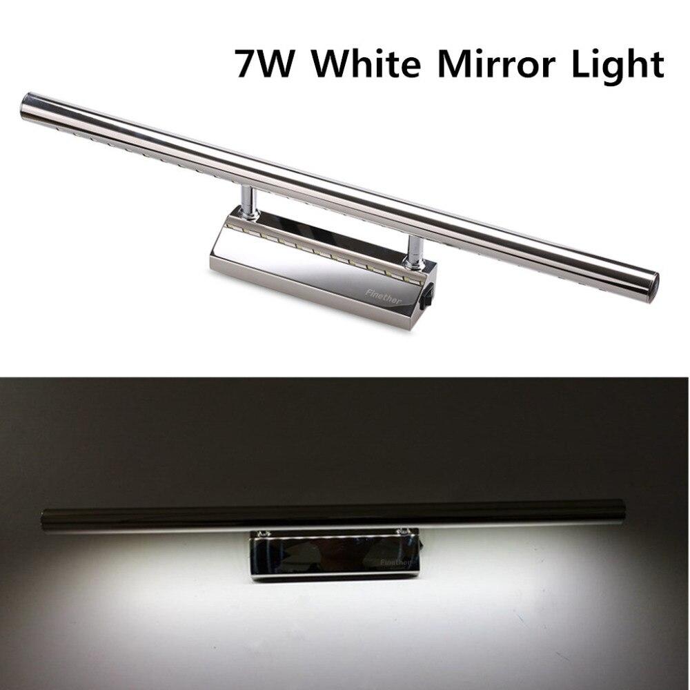 Finether 27 leds 7 w ac85 265v moderne waterdichte anti fog badkamer spiegel wandlampen