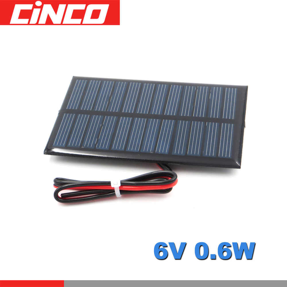 6 V 0.6W 100mA Solar Panel Portable Mini DIY Module System For Solar Lamp Battery Toys Phone Charger Solar Cells 6V Volt
