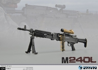 ZYTOYS 1/6 scale soldier weapon model Modern American Army M240 machine gun model for 12'' soldier action figure
