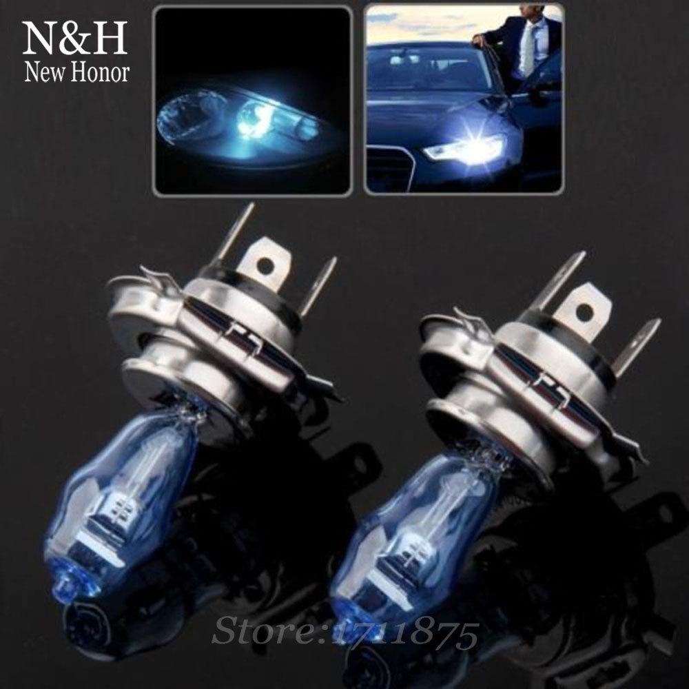 HOD H4 12V 100W 4300k Amber Yellow 6000k White color LED Light Xenon Halogen Fog Headlight Lamp Lights Car Styling With Box