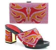 FREIES VERSCHIFFEN! Neue Ankunft Italienische Schuhe Und Taschen Für Frau Mit rot, gute Material, Size38-42, ME330
