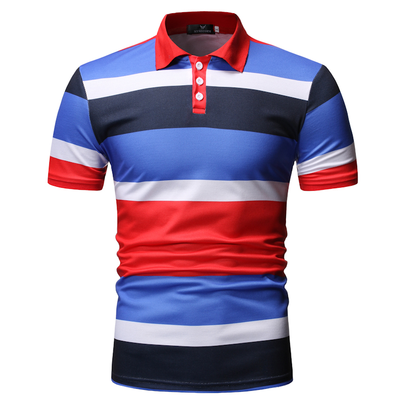 Fashion Men   Polo   Shirt Striped Casual Pullover Man Clothing 2019 New Arrival Short Sleeve   Polo   Shirt Man