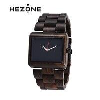 HEZONG 2017 Black Sandalwood Unique Analog Vintage Watch Men S Top Brand Luxury Wooden Wristwatch Classic