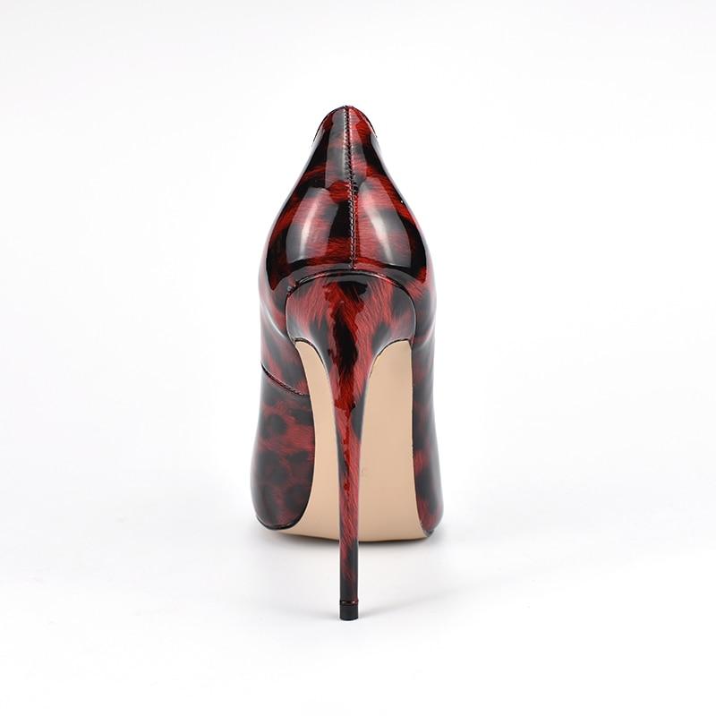Heels F 12 CM High Schuhe Leopad Pumps Kleid 3RL4qSc5Aj