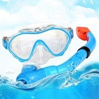 Diving Mask Breathing Tube Kit Children High Definition Anti fog Eyewear Full Dry Snorkels Set Snorkeling Sportswear Accessories