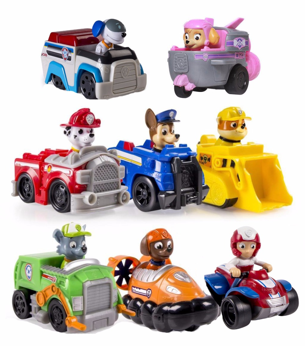 TV & Movie Character Toys Paw Patrol Racer Chase Ryder Skye