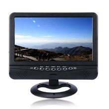 Мини ТВ 9,5 дюймов TFT lcd цветной Аналоговый Телевизор с широкоугольной поддержкой функции FM и TXT ридер Функция Черный Модель: 901