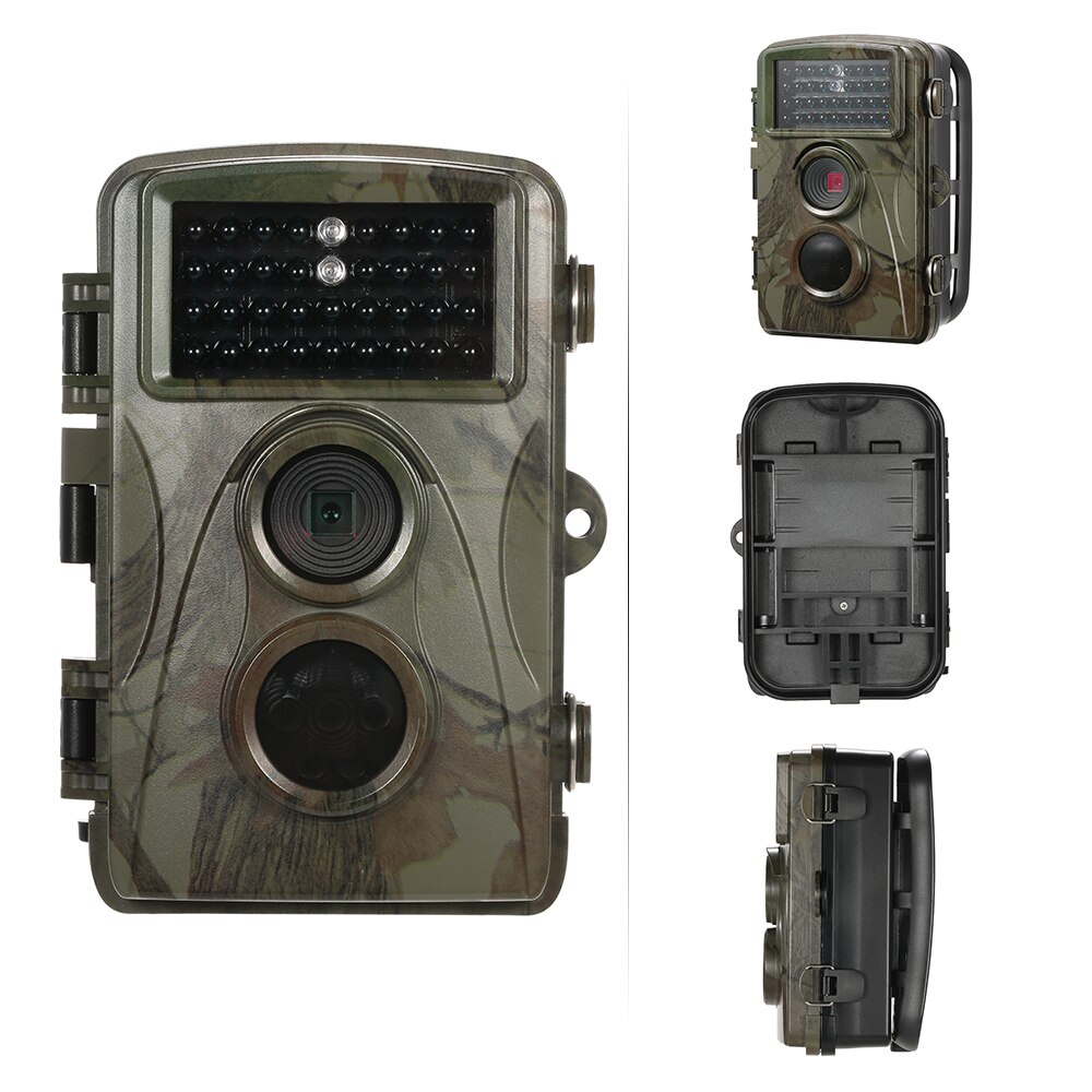 #12MP 720P Wild Trail Camera Animal Observation Hunting Camera Waterproof Infrared Night Vision Camera Recorder with Mount&Cable