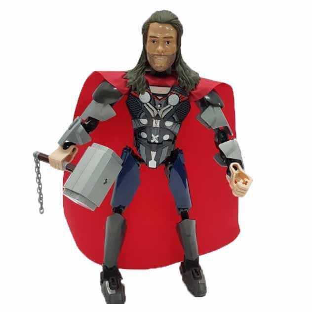 2018 Новое поступление супер герои Тор Бэтмен Бесконечность боец мертвый официант Черная пантера Человек-паук Халк строительные блоки игрушки для
