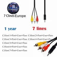 HD cccam cline para 1 anos a europa 7 Linhas de Cabo AV 7 Clines satélite Receber para V8 Super iBravebox F10S DVB-S2 Localizador de V8 V7 HD