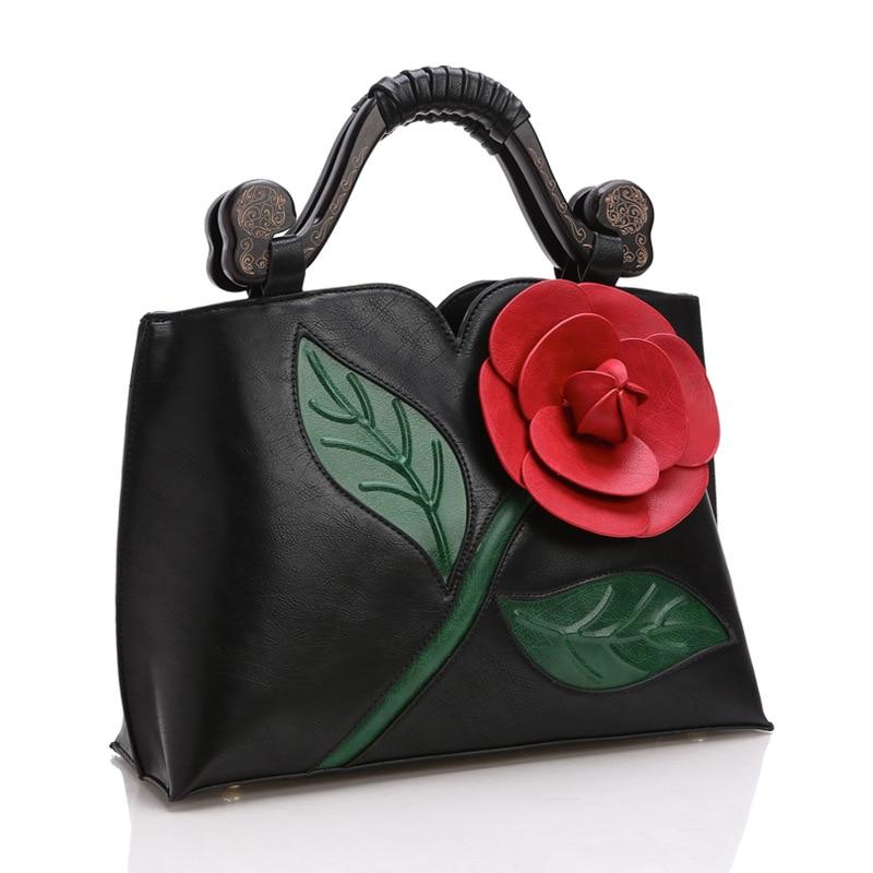Gran bolso de flores color de rosa Bolsos de las mujeres Bolso de - Bolsos - foto 2