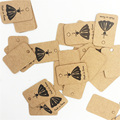 2x3cm Small Black Skirt Square Kraft Paper Tags Clothing Hang 500Pcs/Lot Recycle Craft Paper Tags Can Custom With Logo  H0272