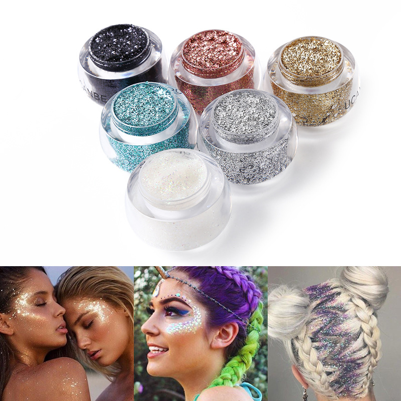2018 Face Body Glitter Paste Cream Makeup Shimmer Gold Silver