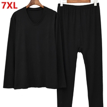Men's big size Long Johns plus size thermal underwear thin s