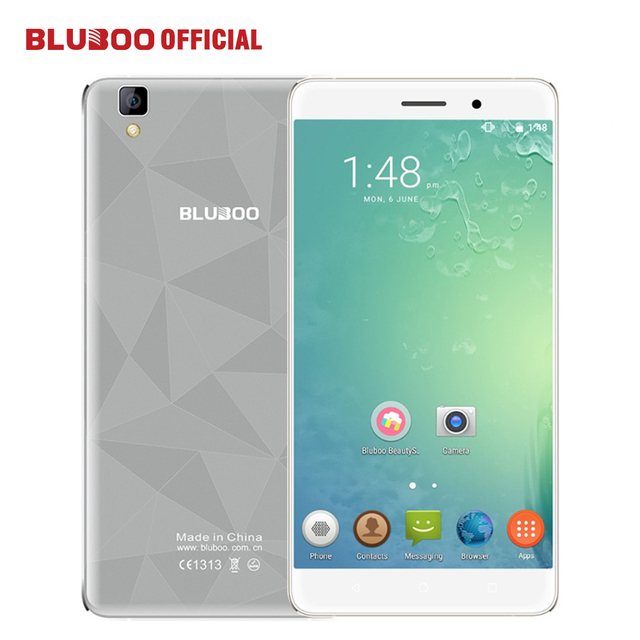 "BLUBOO Maya 5.5"" HD Smartphone  MTK6580A Quad Core Android 6.0 Mobile Cell Phone 13MP CAM 2GB RAM 16GB ROM 3G WCDMA"