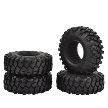 4PCS 1.9inch 108MM Rubber Wheel Tires for 1:10 RC Crawler Axial SCX10 90046 Tamiya CC01 D90 D110 1.9