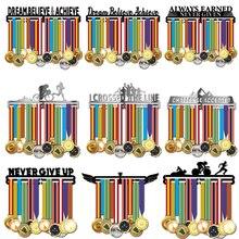 Cabide medalha de metal, inspirativo, porta medalhas, esporte, rack de exibição de medalhas, 36 + medalhas