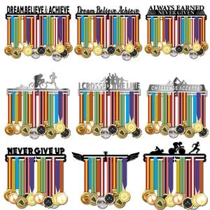 Image 1 - Inspirational medal hanger Metal medal holder Sport medal display rack hold 36 + medals