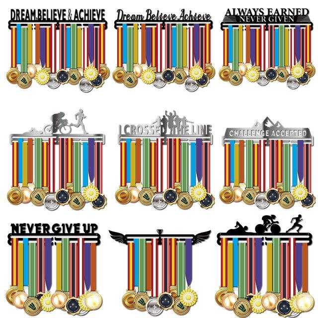 Inspirational medal hanger Metal medal holder Sport medal display rack hold 36 + medals