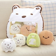 4 Tiny Pcs In One Sumikko Gurashi Plush Toy San-x Soft Pillow Corner Bio Stuffed Animal Cushion For Fans