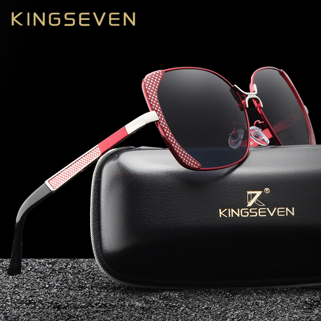 27e745f491 KINGSEVEN Brand Design Luxury Polarized Sunglasses Women Ladies Gradient  Butterfly Sun Glasses Female Vintage oversized Eyewear